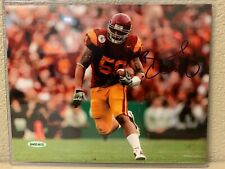 Rey Maualuga Signed USC Trojans 8x10 Photo Upper Deck