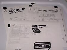 Roland RE 101  201  301  Chorus Echo PDF Manuals and Service Notes
