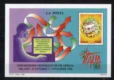 ITALIA 1998 Esposizione Mondiale Filatelica Milano FOGLIETTO NUOVO MNH**