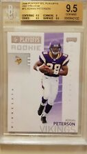 2006 PLAYOFF NFL PLAYOFFS  2007 PREVIEW  #P2  ADRIAN PETERSON  BGS 9.5  ROOKIE