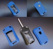 PORSCHE BLUE Remote Flip Key Cover Case Skin Shell Cap Fob Protection Hull 997