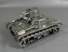 GERMAN DRGM WWII GAMA ARMORED TANK TIN TRACKS VEHICLE WIND UP TIN TOY SPARKLING