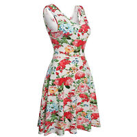 Clearance Lady Vintage Dress Style Retro 40s 50s Rockabilly Evening Party Skater