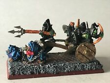 Warhammer Orcs and Goblins - Night Goblin Squig Herder Chariot - Goblin Wagon