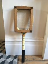 Vintage Retro Tennis Racket. CLEAVE 'The Whipshaft' & PRESS. Sports Memorabilia