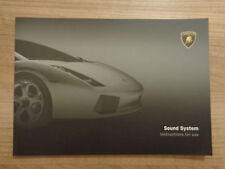 Lamborghini Gallardo Sound System (Radio) Owners Handbook/Manual