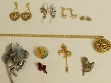 and pegasus theme jewelry lot Vintage to now assorted unicorn