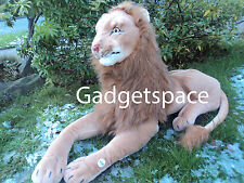 EXTRA LARGE GIANT LION 100cm SOFT TOY PLUSH CUDDLY REL LIFE LOOKING - NEW