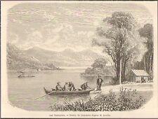 CANADA LAC LAKE CHAMPLAIN GRAVURE ENGRAVING GRANDSIRE 1861