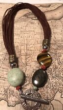 Silpada N1891 Howite, Tigers Eye, Sponge Coral, Brass Necklace Retail $99