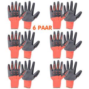 6 Paar Arbeitshandschuhe Rutschfeste Montagehandschuhe Schutzhandschuhe T1001