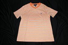 Polo Ralph Lauren Boys Short Sleeve V-Neck T-Shirt Casual Orange&White 10-12