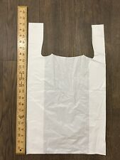 White Carrier Bags - 21x12x5 Tee Shirt Bags - Case of 1000 - Free Shipping