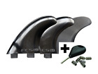 THRUSTER 3 PIECE FCS SURF FIN SET WITH KEY AND SCREWS WORLD SHIPPING