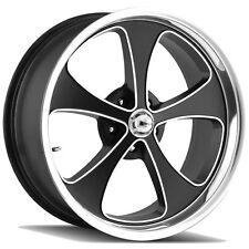 "4-NEW Ridler 645 18x8 5x127/5x5"" 0mm Black/Machined Wheels Rims"