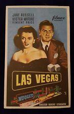 Las Vegas 1952 Spanish Herald Movie Poster Jane Russell Victor Mature Gambling