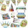 Children Plates Jungle Animal Party Set Disposable Tableware Birthday Camping