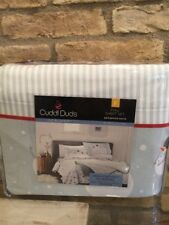 Cuddl Duds Full Flannel Sheets wth Deep Pockets 4-Pieces - Snowman Hat Sheet Set