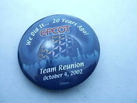 VINTAGE PROMO PINBACK BUTTON #97-108 - 2002 EPCOT CENTER - 20 YEARS