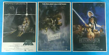 STAR WARS HASBRO BLU RAY EXCLUSIVE POSTER SET 1-6