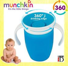 Munchkin Miracle 360 Blue No Non Spill Proof Sippy Anyway Up Trainer Cup Beakers