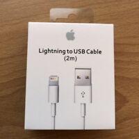 100% Genuine Apple 2M Lightning To USB Charger Lead Cable iPhone 6 5 5S iPad Air