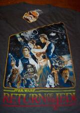 VINTAGE STYLE STAR WARS RETURN OF THE JEDI T-Shirt MEDIUM NEW Ewok Han Solo Yoda