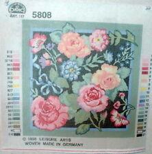 "Needlepoint Gorgeous DMC Kit "" Rose Floral "" #5808"