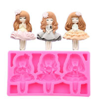 3D Silicone Cute Ballet Girl DIY Baking Mould Fondant Cake Sugar Craft Mold Tool