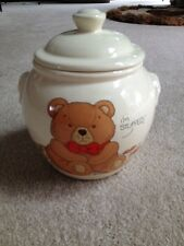 Vintage Treasure Craft Cookie Jar Teddy Bear I'm Stuffed