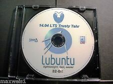 LUBUNTU Linux 14.04.5 LTS 32-Bit* LIVE/Install DVD +Case Sticker +Extras (NEW)