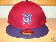 Detroit Tigers Custom New Era Hat Cap 7 1/8 MLB Red