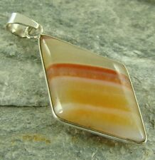 Botswana Agate 925 Sterl Silver Necklace Pendant 796c