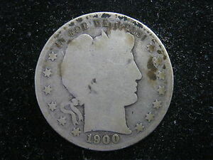1900-S Barber Half, Good Condition