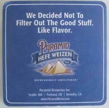 PYRAMID HEFE WEIZEN Beer COASTER Mat Seattle WASHINGTON Portland OR, Berkeley CA