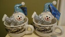Currier & Ives Christmas Mugs, Set of 2