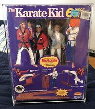 DANIEL LARUSSO & MR. MIYAGI 1986 REMCO 6 Piece Action FIGURE SET KARATE KID.