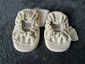 New Mamas And Papas Leather Baby Girls Shoes - 3-6 Months - New With Tags!