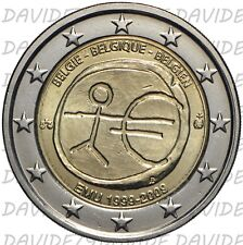 2C2009ABEL]2 EURO COMMEMORATIVO BELGIO 2009 - 10 ANNI EURO 1999 2009 - EMU