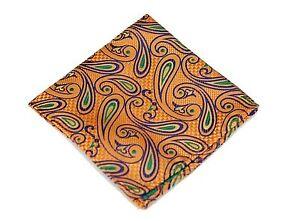 Lord R Colton Masterworks Pocket Square - Capilla Sun Kiss Silk - $75 Retail New