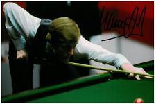 Steve davis main signé 6x4 photo snooker authentique autographe souvenirs + coa