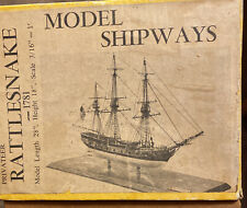 Vintage Model Shipways Rattlesnake 1781 - Wooden Ship Boat Model Vintage Old