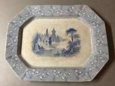 Antique John Goodwin English Ironstone Transferware LARGE PLATTER c1841-1851