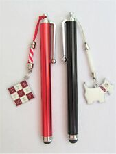 #5307- HANDCRAFTED RED & BLACK TOUCH SCREEN CAPACITIVE STYLUS w/ DOG FLAG CHARMS