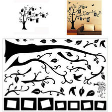 Large Family Tree Birds Photo Frame Quotes Wall Sticker Art Decals Home Decor UK