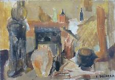 Elisabeth DUJARRIC (1930-2005) HsT 60' 56x38cm Nle Ecole de Paris Jeune Peinture