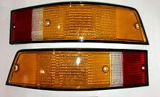 Rückleuchte Rückleuchten Glas-Set  EU-Rand schwarz E-Prüfz, Porsche 911 74-89 OE