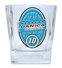 NASCAR #10 DANICA PATRICK 12oz GLASS TUMBLER SET-NASCAR GLASSES-2 PACK