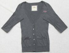 Hollister Sweater Small Cardigan Gray Women's Long Sleeve Top Cotton Nylon Rayon