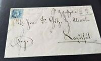 Bayern 3 Kreuzer-Advokaten-Brief 1858 mit seltenem gMR 33 Baumgarten (Lkr. PAN)